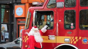 Santa and firefolks