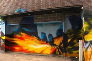 Wine Rack alleyway Mural #1