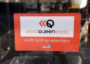 WQW e-Gift-Card window sticker